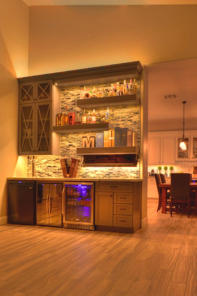 A Home Bar Will Have Everything At Hand Including An Ice Maker To Make Any Bartender Jealous Of Your With Custom Cabinets For You