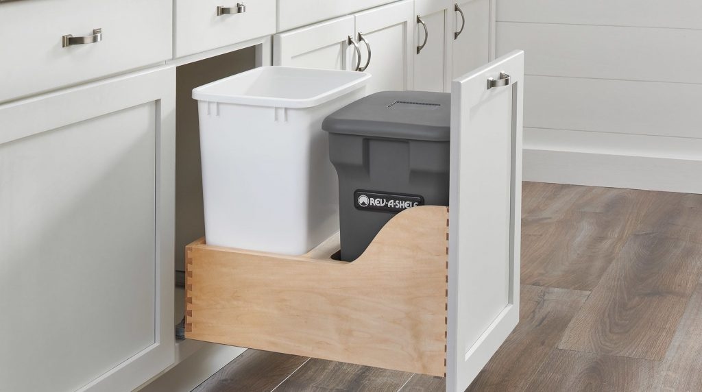 Custom Cabinet Waste Container Pull Out