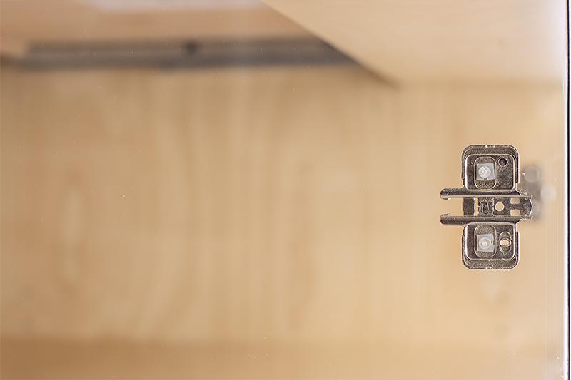 Close up of Custom Cabinet Hinge